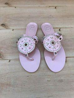 0ca904eee86a Jack Rogers Georgica Jelly Flip Flop Sandals Pink   Platinum Size 8 M   fashion