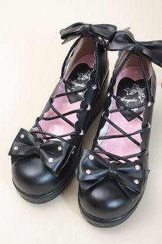 Lace-up platform shoes Angelic Pretty - [FairyAngel] Gothic & Lolita & Lolita doll clothes Gothloli & Doll Shop recycling [Fairy Angel]