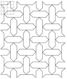 Geométrica - Desenho Geométrico - Padrões Geométricos Islamic Art Pattern, Pattern Art, Quilting Patterns, Quilting Designs, Arts And Crafts, Diy Crafts, Islamic Art Calligraphy, Stupid Stuff, Ribbon Embroidery