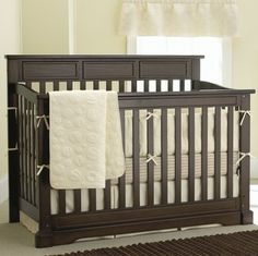 The crib for the baby.