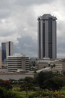 the Times Tower, the tallest building in East and Central Africa