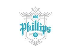 Phillips - Cheers to 100 Years Campaign - logo design - shield