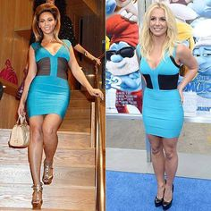 Who wore it better?  We already KNOW the answer to that question!!  Ha!  Queen Bey...
