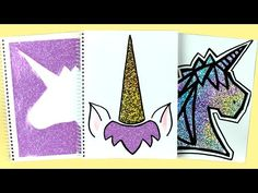 DIY: Holo Unicorn Notebook Covers! DIY Back to School Supplies | Cutify DIY #7 - YouTube