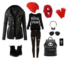 """""""Blek"""" by mei-terumi ❤ liked on Polyvore featuring Dr. Martens, LE3NO, 3.1 Phillip Lim, Freddy, ThirtyTwo and Old Navy"""