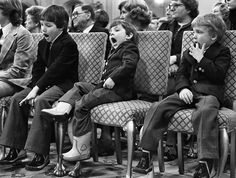 It was a big day for Dad, but a long day for the three Trudeau children. Left to right, Justin, Michel and Alexandre (Sacha) Trudeau attended the swearing in ceremonies of their father Pierre Elliott Trudeau as Prime Minister March 3, 1980 at Government House..?
