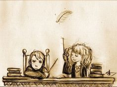 Harry Potter Fan Art, Harry Potter Drawings, Harry Potter Universal, Harry Potter World, Keanu Matrix, Scorpius And Rose, Ron And Hermione, Hermione Granger, Ron Weasley