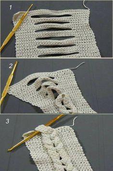 Making a Palm - Crochet Crochet Headband Pattern, Knitted Headband, Crochet Blanket Patterns, Crochet Stitches, Knitting Patterns, Knit Crochet, Crochet Hats, Faux Braids, Single Crochet Stitch