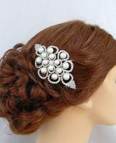 Bridal Hair Comb Swarovski crystal rhinestones by CrystalAvenues, $50.00