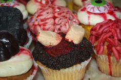 Zombie Party Cupcakes!