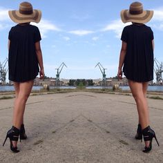 Get this look: http://lb.nu/look/7804490  More looks by LIULIU: http://lb.nu/liuliupoint  Items in this look:  Liuliu Hat, Vices For Deezee High Heels