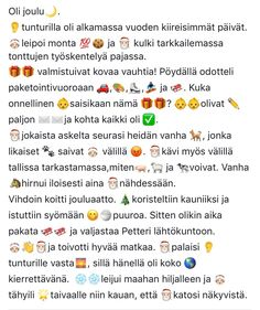 Toiminnallista elämää: Arviointia ja joulupuuhaa osa 2Jouluinen kirjoitus... Learn Finnish, Finnish Language, Merry Xmas, Just Do It, Special Education, Kids Learning, Emoji, Christmas Crafts, Literature