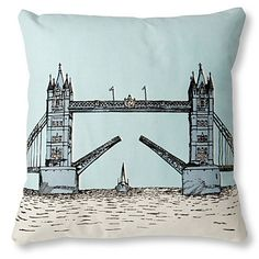 $68.87 MR WINGATE Tower Bridge cushion cover with pad