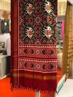 Designer Rajkot Double ikkat Patola Duppata www.marutipatola.com #RAJKOT #PURE #SILK #HANDLOOM #PATOLA #SAREE #ikkat#patanpatola#Doubleikkat#pochampally# 100% Pure Silk Material with SILK MARK LABEL. For purchase enquiries, kindly contact us on info@marutipatola.com or call/WhatsApp on +91 81400-72400 Ikkat Silk Sarees, Silk Dupatta, Handloom Saree, Kurti, Chanya Choli, Navratri Dress, Bandhani Dress, Wedding Outfits For Groom, Baby Dress Design