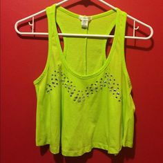 Bright Green Crop Top Bozzolo bright green crop top size S. It looks more neony on camera. It's more of a slightly off neon green in person. It's just not my style anymore and could use a new home! Bozzolo Tops Crop Tops