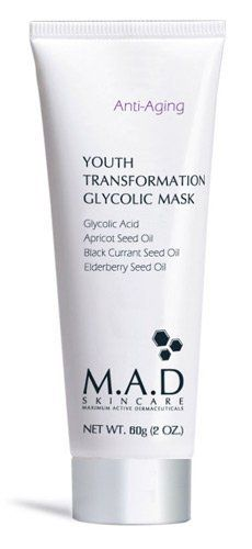 M.A.D SKINCARE ANTI-AGING: Youth Transformation Glycolic Mask - 60g by M.A.D SKINCARE. $30.00. Elderberry Seed Oil ?Çô Known for its moisturizing properties and rich in essential fatty acids, this natural oil helps to enhance and improve the appearance of dry under nourished skin and helps to improve skin barrier function, hydration and skin elasticity.. Apricot Seed Oil ?Çô Sought for its high vit...