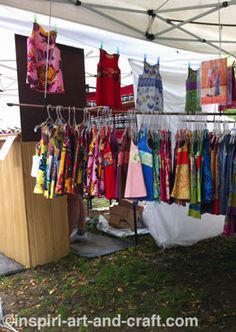 1000 images about craft displays on pinterest craft for Clothing display ideas for craft shows