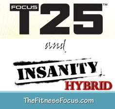 Focus T25 and Insanity Hybrid Schedule