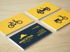 Sun_n_fun_business_cards | #Business #Card #letterpress #creative #paper #businesscard #corporate #design #visitenkarte #corporatedesign < repinned by an #advertising agency from #Hamburg / #Germany - www.BlickeDeeler.de | Follow us on www.facebook.com/Blickedeeler