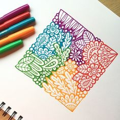 Discover recipes, home ideas, style inspiration and other ideas to try. Doodle Art Drawing, Zentangle Drawings, Mandala Drawing, Art Drawings, Zen Doodle, Flower Drawings, Doodle Sketch, Zentangles, Doodle Art Designs