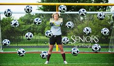 The Force: Soccer senior picture ideas for goalies #seniorpictureideas #seniorsbyphotojeania