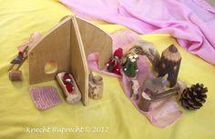 Knecht Ruprecht Waldorf Dolls: Portable Imaginative Play Waldorf Dollhouses