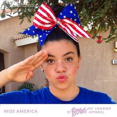 """Cheer bow of the day. by @bowsoflondon """"✨❤️ Miss America ❤️✨ BOLgirl @ch33r_4_3v3r #missamerica #america  Tag #cheerbowoftheday to be featured. #cheerbow #cheerbows #cheer #cheerleading #cheerleader #cheerleaders #allstarcheer #glitter #allstarcheerleading #cheerislife #bows #hairbow #hairbows #bling #hairaccessories #bigbows #bigbow #teambows #fabricbows #hairclips #sparkle #americanflag #grosgrainribbon #dance#ribbon #patriotic#redwhiteblue"""