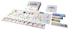 Tokaido  Tokaido is the most relaxing board game I've ever played, with beautiful artwork inspired by traditional Japanese watercolors. The game consists of tranquilly traveling across Japan's famous East Sea Road, but don't let the calm style of the art fool you — it's also a game of surprising deep strategy as you compete to build stunning panoramas, visit temples, and feast upon local delicacies on your travels.