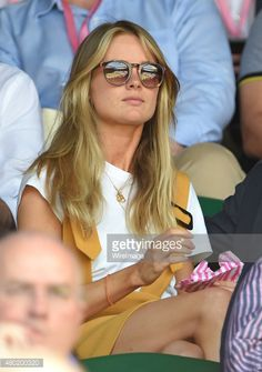 Cressida Bonas attends day eleven of the Wimbledon Tennis Championships at Wimbledon on July 10, 2015 in London, England.