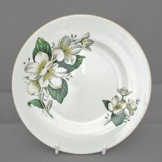 english wood & sons PAIR of vintage tableware side plates, pattern alpine white £10.50 ono FREE POST UK+10% off each EXTRA item bought with free post – uk only