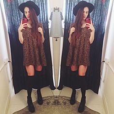 Love this dress from @American Apparel! #ootd #fashion #dress #cheetah #hat