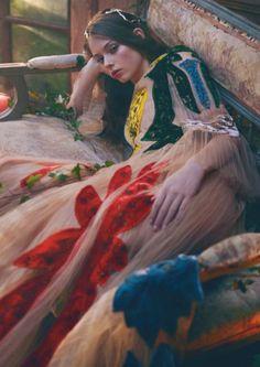 Lauren de Graaf by Alexandra Sophie for Vogue China April 2016