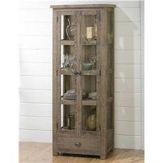 Jofran Slater Mill Pine Tall Kitchen or Dining Room Display Cupboard - Furniture and ApplianceMart - China Cabinet