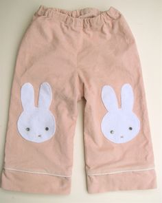 Bunny Pants! (with a little tutorial)... piping up