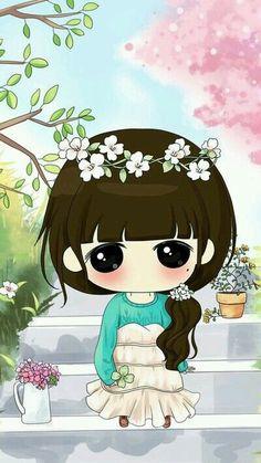 32 Best Couple Kartun Lucu Images Anime Chibi Chibi Girl Cute