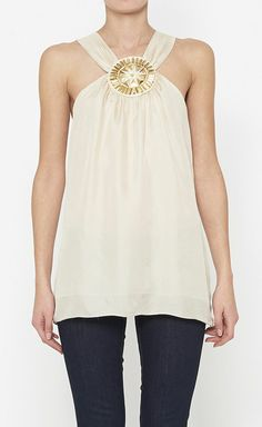 Milly Gold & Beige Top.
