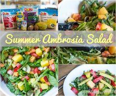 Salad Recipes | Summer Fruit Salad with DOLE Pineapple Juice #dolepineapplejuice #ayearofsunshine