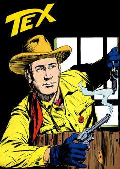 E' successo che con le ristampe di Tex mi ci sono coperto per quattro giorni. Perché avevo freddo. Caricature, Sergio Leone, Western Comics, Pulp Magazine, Cowboy Art, Old Comics, Pulp Art, Comic Covers, Book Illustration