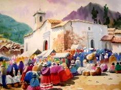 """The Colca Fair"",Peruvian Art."