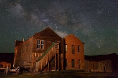 Milky Way Over Dechambeau Hotel - A shot from our Bodie [State Historic Park, California] photography workshop last Sunday night. May 30, 2014 Photographer Jeff Sullivan