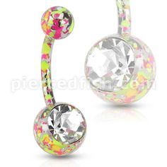 Paint splattered belly ring....want this for my color run