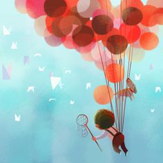 Sweet Balloon Effect - Great mural idea