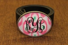 Women's Belt Buckle   Custom Monogram by ShaggySugar on Etsy, $25.00