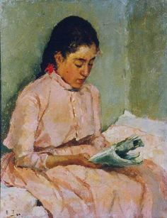 Gerda by Ellen Thesleff, Finnish. Female Painters, Beautiful Collage, Woman Reading, Illustration, Female Art, Reading Art, Art, Girl Reading Book, Schjerfbeck