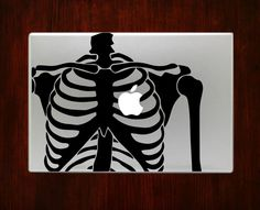 Skeleton Humor Anatomy Science Decal Sticker For Macbook 13 15 inch Pro Air #RusticDecal