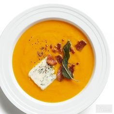 Try this mouth-watering carrot soup. This healthy soup recipe is delicious and perfect for a cold winter day. Warm up with a bowl of this creamy and nutritious soup.