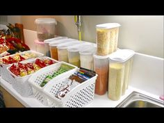 Decorative Storage, Kitchen Storage, Container, Food, Youtube, Kitchen Organization, Essen, Meals, Yemek