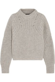 Love a chinky knit! Isabel Marant Newt oversized mélange ribbed-knit sweater