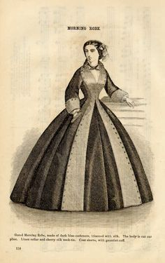 G Feb 1862 split front skirt with button detail civil war - I want this pattern!