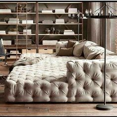 Triple-wide chaise lounge.